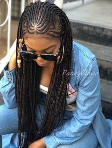 Tribal Braids With Wooden Beads