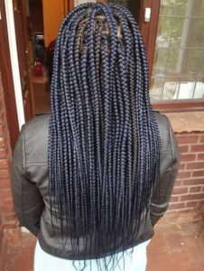 navy blue box braids