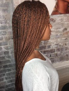 reddish brown box braids