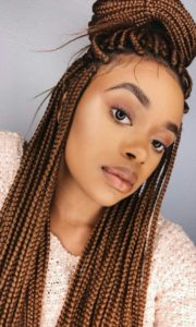 small brown box braids