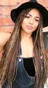 sun streaked small box braids