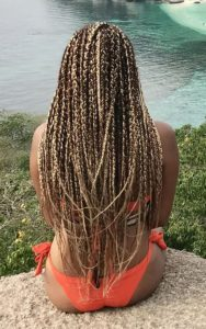 two toned box braids