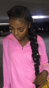Beaded Butterfly Braids With Cornrows