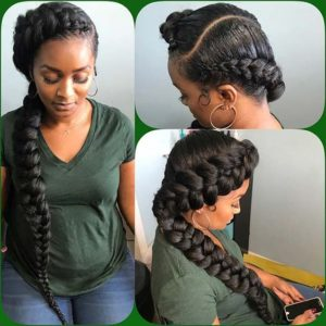 Butterfly Braids With Curved Part