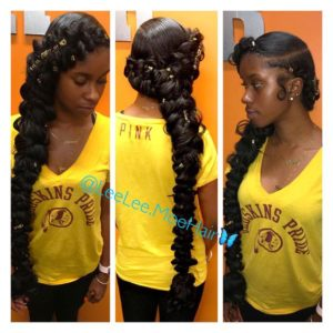 Butterfly Braids With Gold Accessories