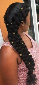 Butterfly Braids With Gold Beads