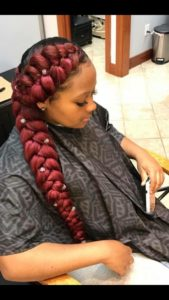 Chunky Red Butterfly Braids
