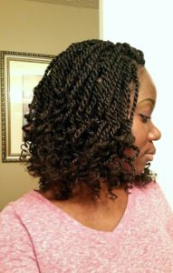 Kinky Twists for Transitioning Hair