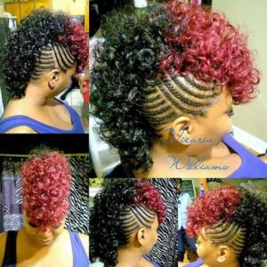 Two-Toned Braided Mohawk
