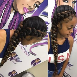 Two Toned Butterfly Braids