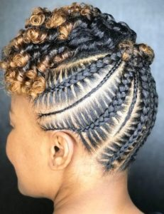 Cornrows and Two-Toned Curls