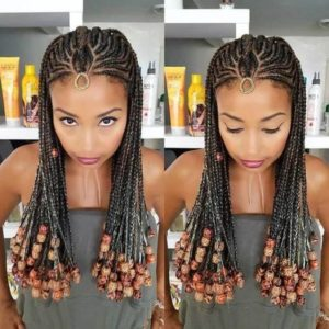 Fulani Braids With Wooden Beads