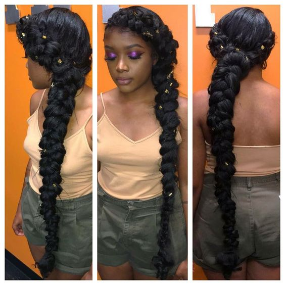 These gorgeous butterfly braid styles