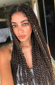 Senegalese Twists With Middle Part