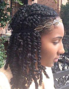 Two Strand Twists With Headband