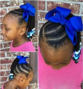 Braided Side Ponytail With Beads