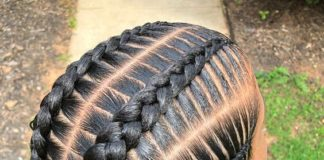 Chunky Straight Back Stitch Braids
