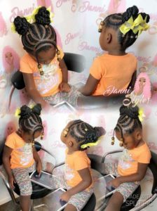Flat Twist Updo With Beaded Bangs