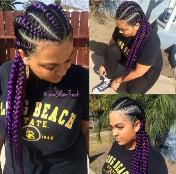 Purple Stitch Braids