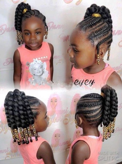 Side Ponytail With Cornrows