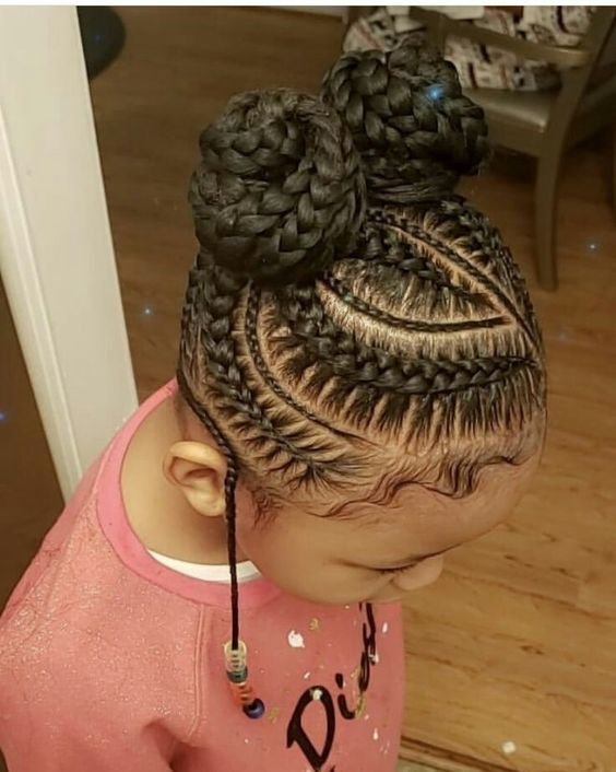Stitch Braids Double Buns