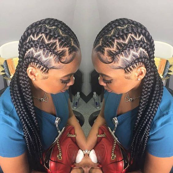 Stitch Braids With Zig Zag Parts