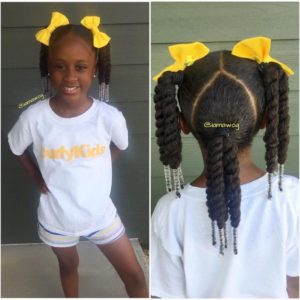 Twisted Pigtails WIth Beads