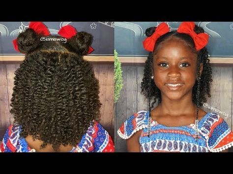 Two Strand Twist Out With Double Buns