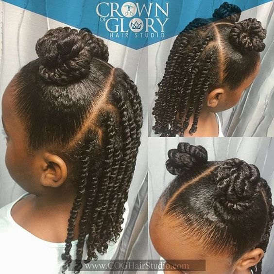 Two Strand Twist and Double Buns