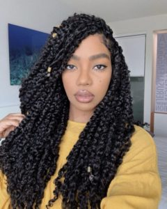 Chunky Passion Twists with Gold Beads