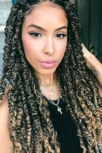 Passion Twists With Blonde Highlights