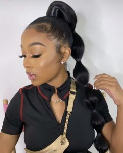 Banded High Ponytail
