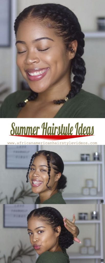 Braided Pigtails on Natural Hair