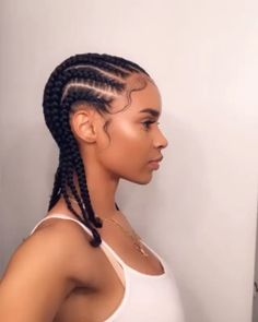 Straight Back Cornrows on Natural Hair