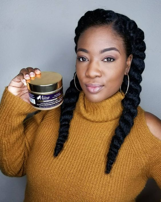 Two Chunky Braids With Side Part