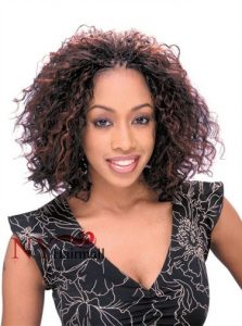 Reddish Brown Curly Invisible Braids