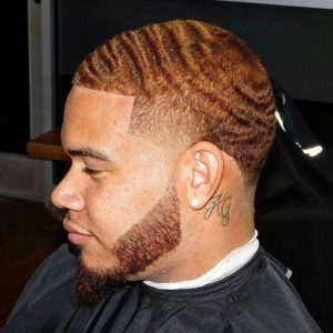 Waves and Beard on Red Hair