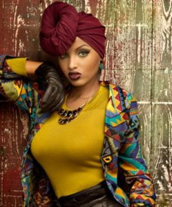 Burgundy Head Wrap