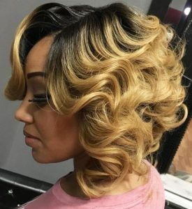 Curly Blonde Ombre Weave