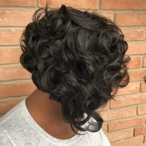 Curly Stacked Bob Sew-In