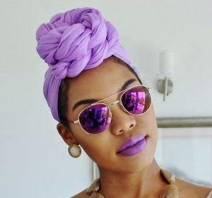 Lavender Twist Head Wrap