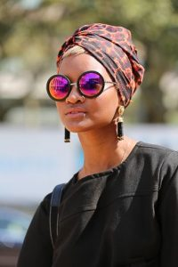 Stylish Animal Print Head Wrap