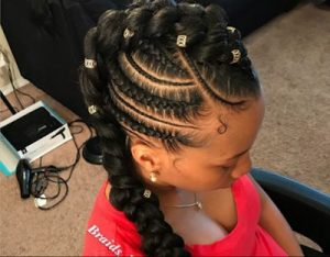 Fancy Mohawk Braids With Beads