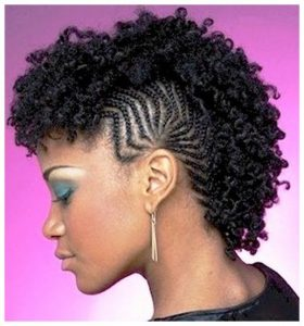 Mohawk Braids With Curls