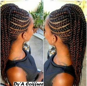 Mohawk Cornrows With Twists
