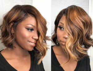 Asymmetrical Golden Brown Wig