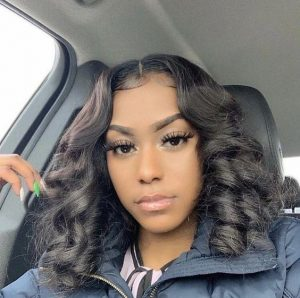 Middle Part Lace Front Wig With Barrel Curls