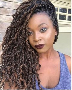 Side Swept Brown Spring Twists