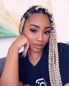 Blonde Chunky Box Braids