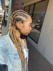 Blonde Feed In Braids